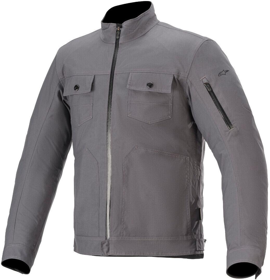 Alpinestars Solano Veste textile de moto imperméable à l'eau Gris taille : L