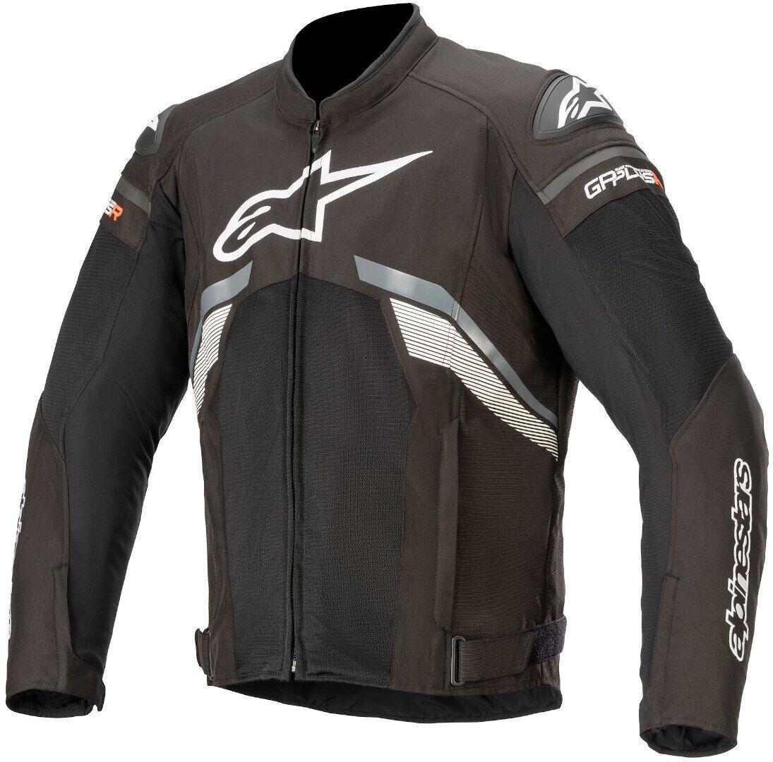 Alpinestars T-GP Plus V3 Air Veste textile de moto Noir Gris Blanc taille : M