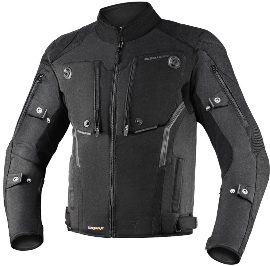 Rebelhorn Borg Veste textile de moto Noir taille : L