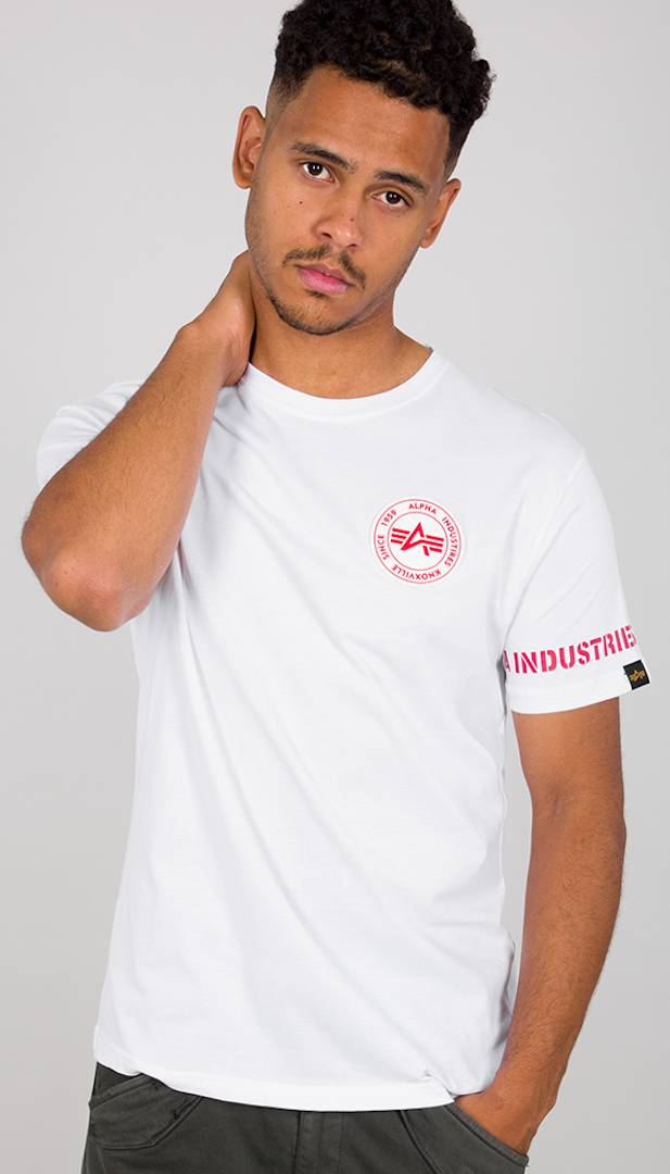 Alpha Industries RBF Back Stripe T-Shirt Blanc taille : M