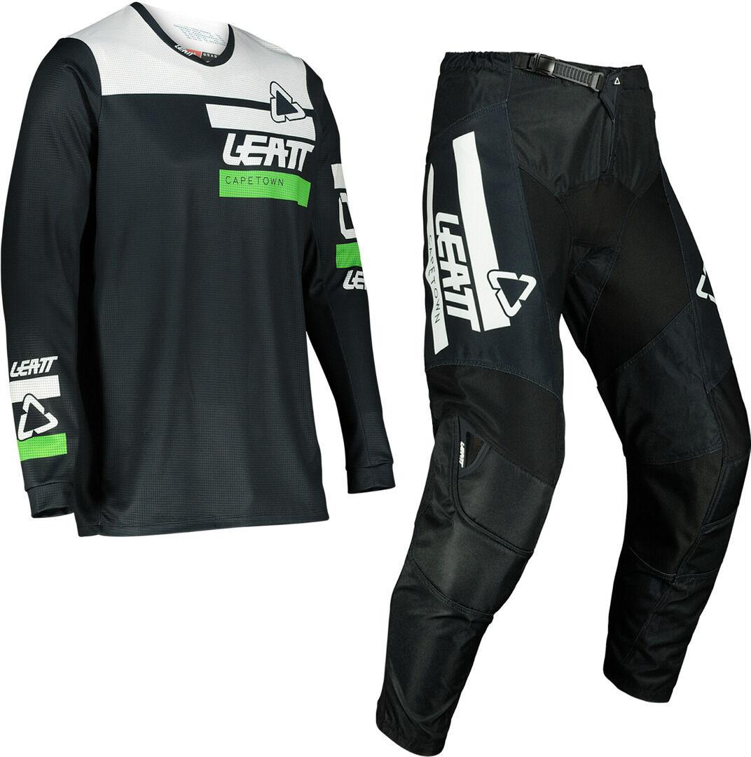 Leatt Moto 3.5 Ride Maillot de motocross et ensemble de pantalons Noir taille : M