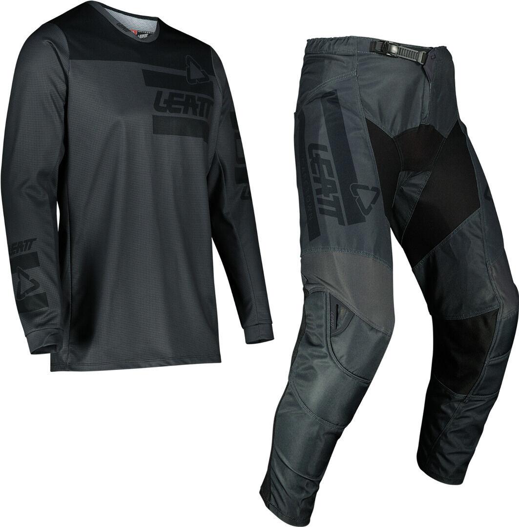 Leatt Moto 3.5 Ride Maillot de motocross et ensemble de pantalons Gris taille : XS