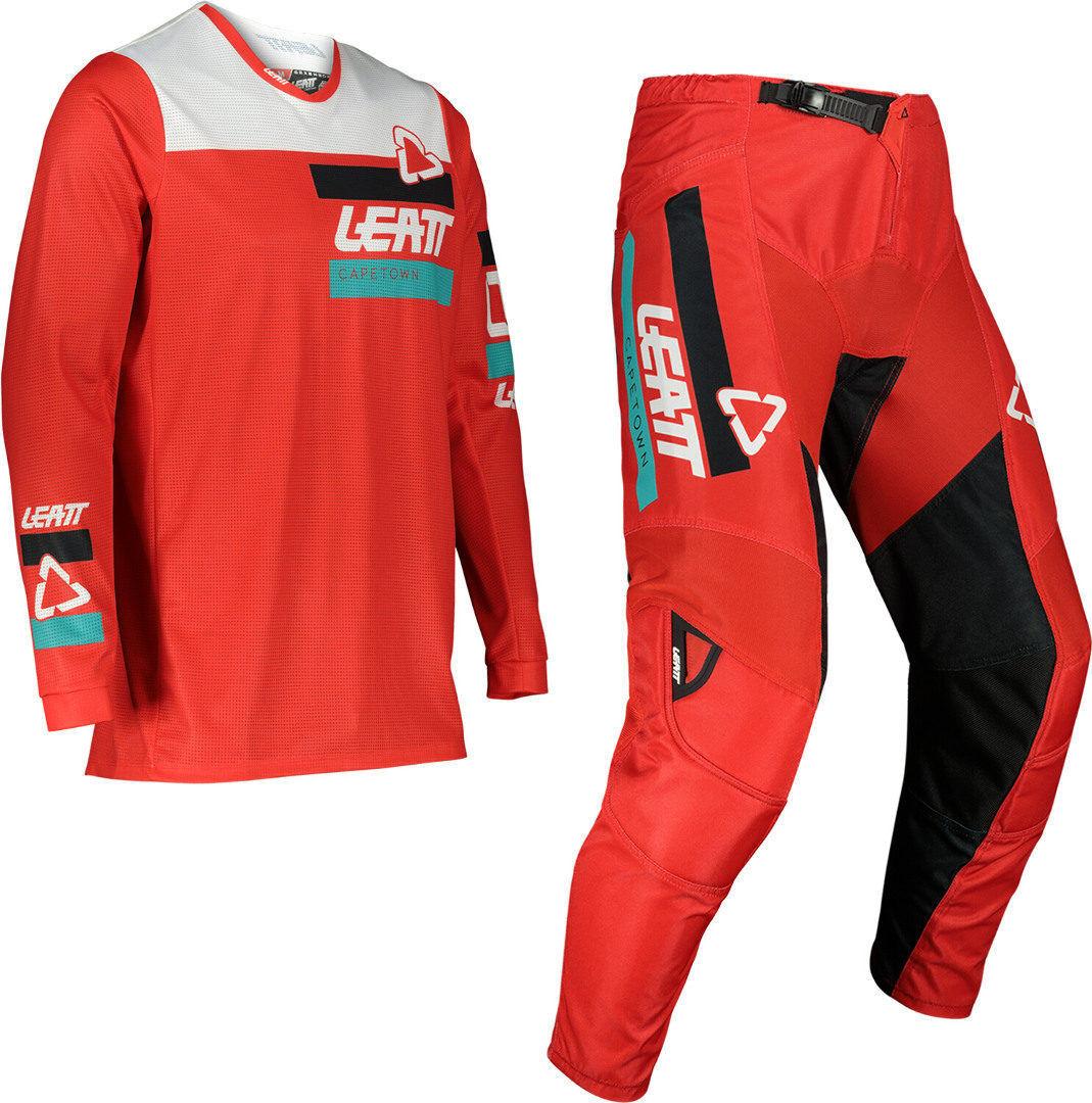 Leatt Moto 3.5 Ride Maillot de motocross et ensemble de pantalons Rouge taille : 3XL