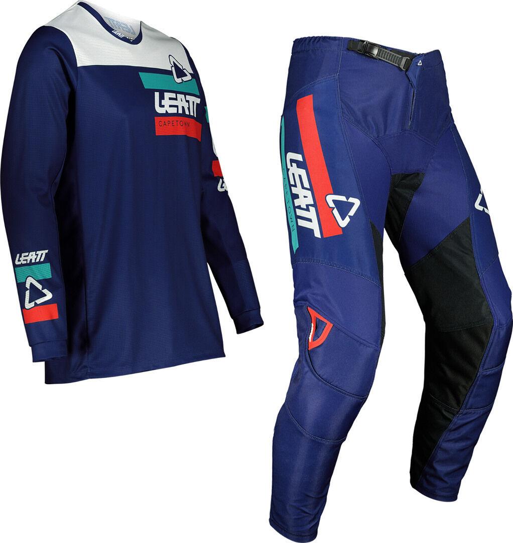 Leatt Moto 3.5 Ride Maillot de motocross et ensemble de pantalons Bleu taille : 2XL