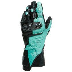 Dainese Carbon 3 Gants de moto de dames Noir Vert taille : S