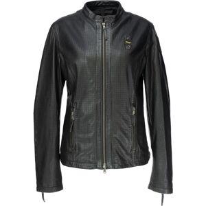 Blauer USA Miller Veste en cuir perforé Mesdames Noir taille : S - Publicité