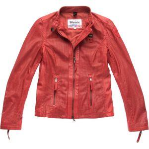 Blauer USA Miller Veste en cuir perforé Mesdames Rouge taille : S - Publicité