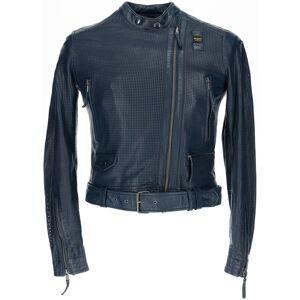 Blauer USA Moore Veste en cuir perforé Mesdames Bleu taille : XS - Publicité