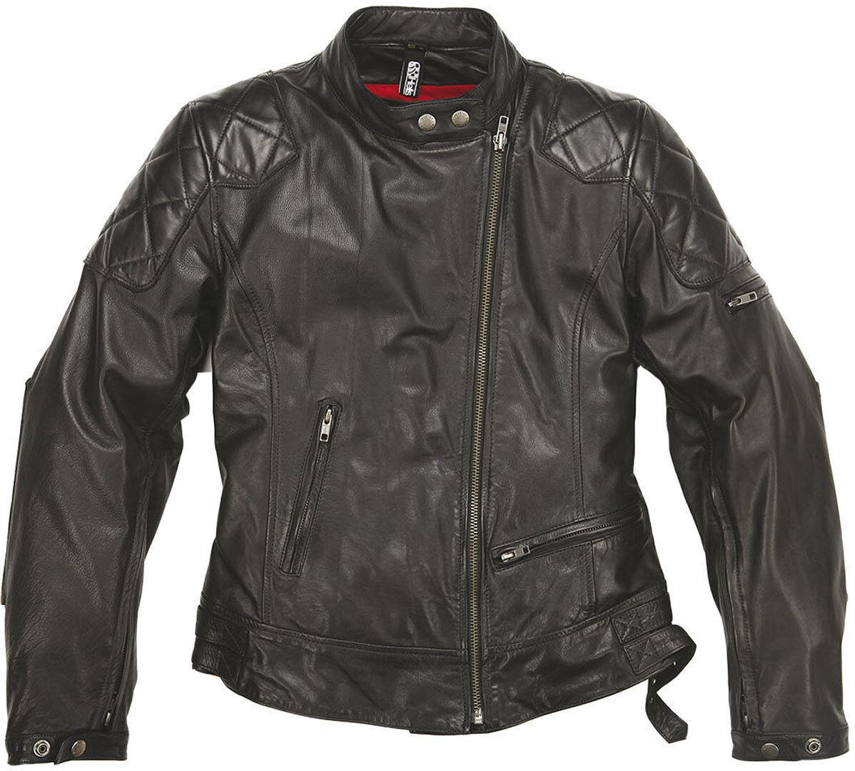 Helstons KS 70 Veste en cuir de dames Noir taille : 2XL