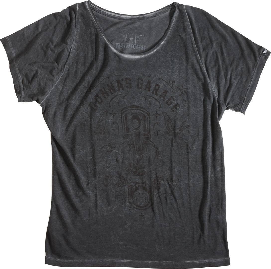 Rokker Custom Garage Women T-Shirt Gris taille : XL