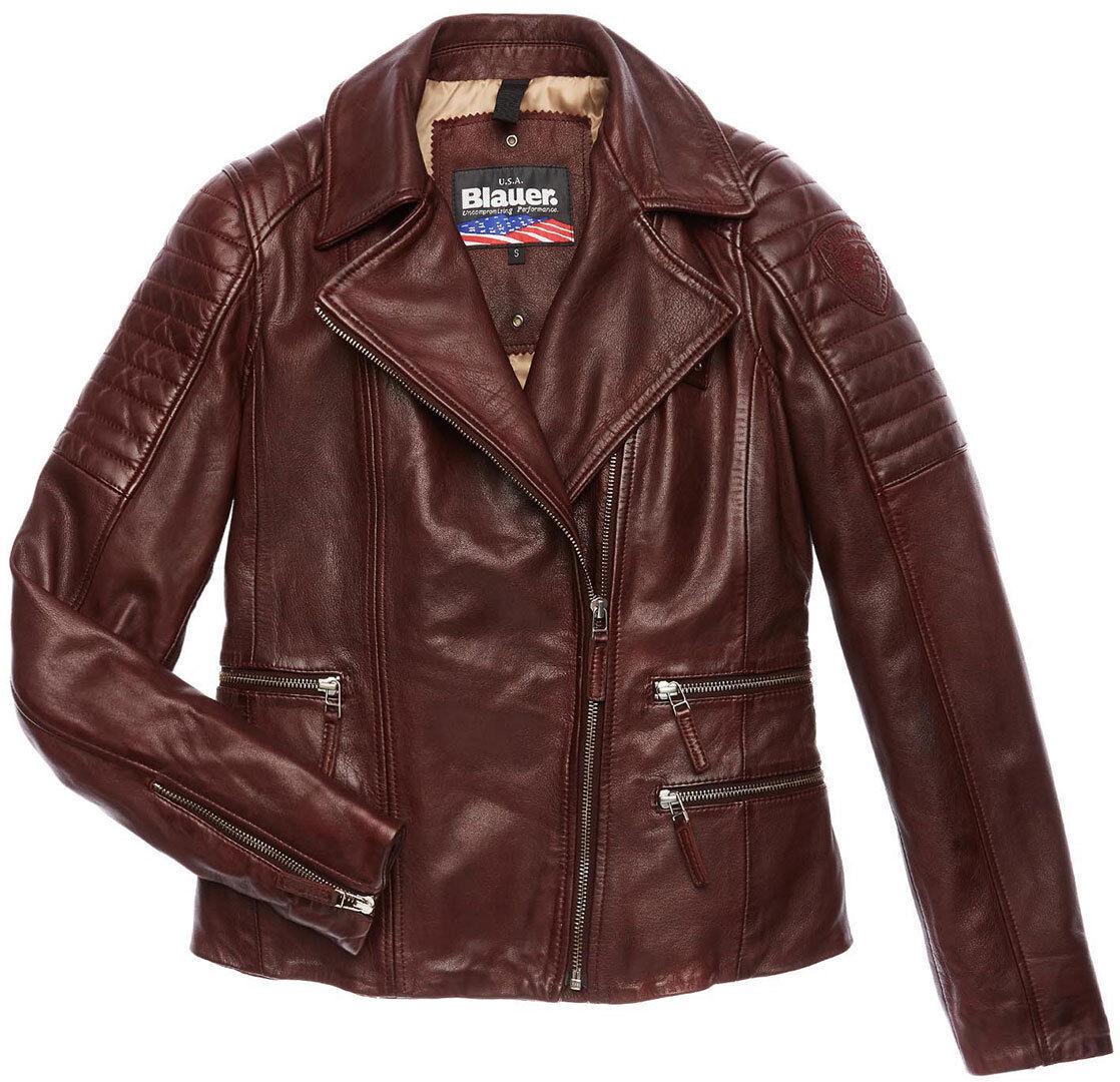 Blauer USA Icon Veste en cuir de dames Brun taille : M