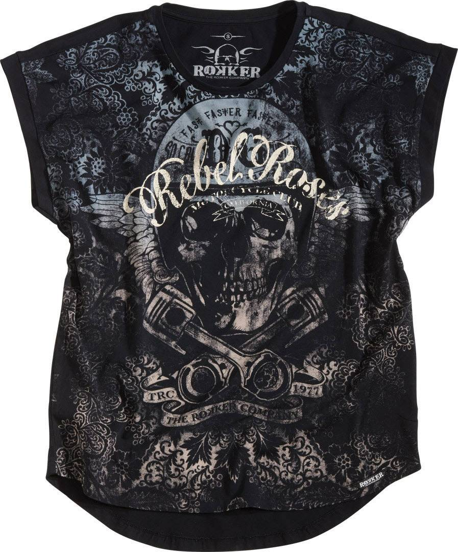 Rokker Rebel Roses 77 Women´s chemise Gris taille : XS