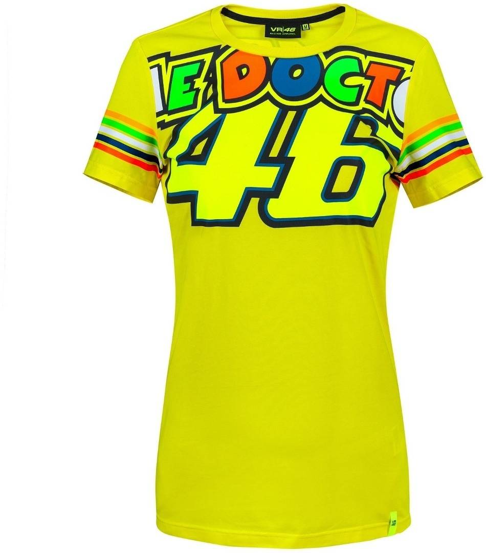 VR46 The Doctor 46 T-Shirt femmes Jaune taille : XS