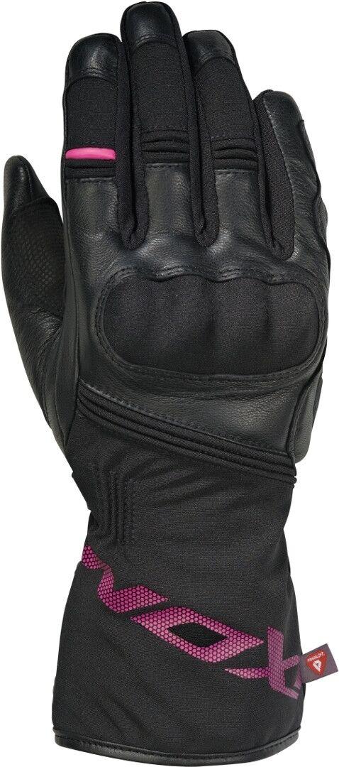 Ixon Rescue Pro Gants de moto hiver dames Noir Rose taille : L