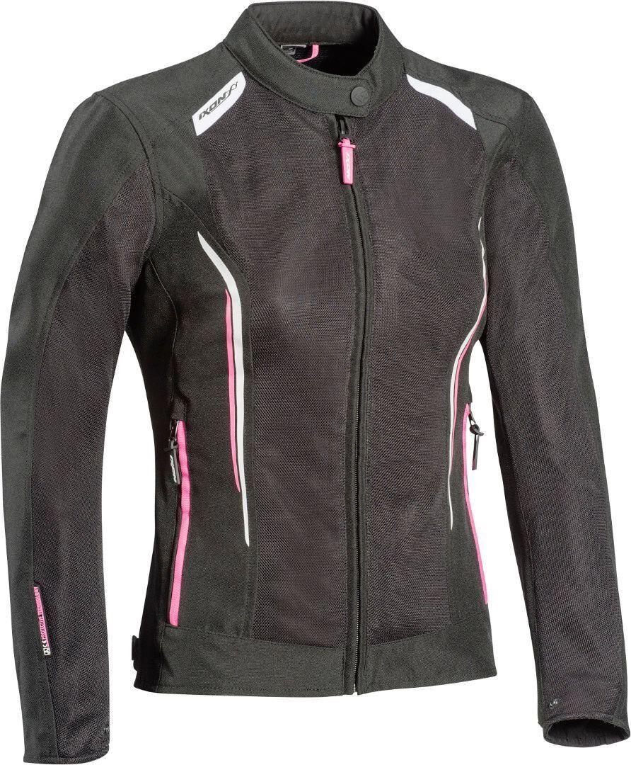 Ixon Cool Air Veste de dames moto Textile Noir Blanc Rose taille : M