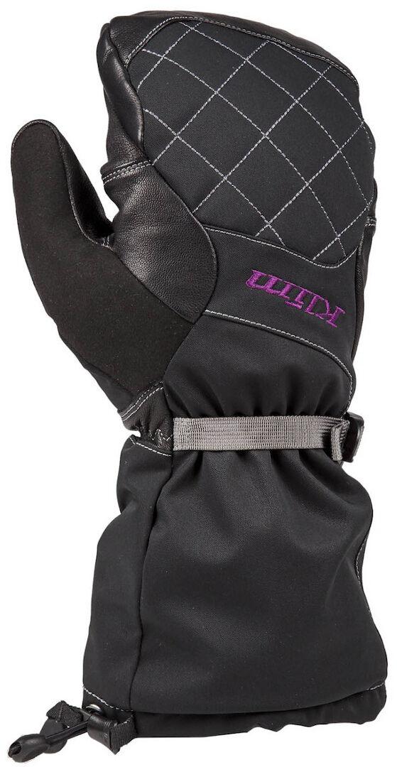 Klim Allure Mitten Gants pour dames noires Noir Rose taille : XL