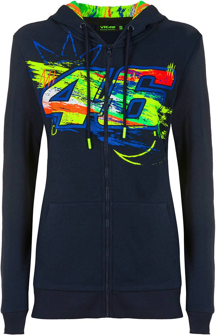 VR46 Winter Test Dames Zip Hoodie Bleu taille : XS