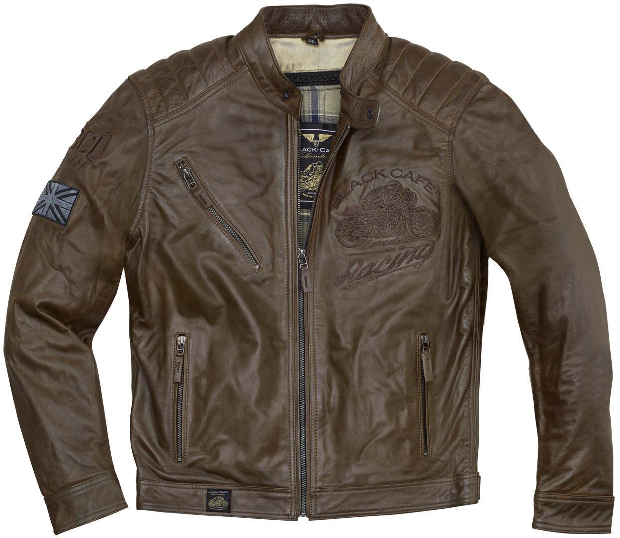 Black-Cafe London Black Cafe London Houston Veste en cuir de moto Brun taille : 50