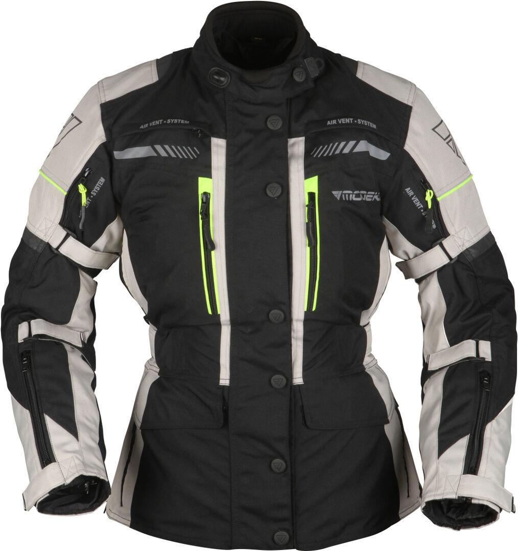 Modeka Winslow Veste textile de moto dames Noir Gris taille : 38
