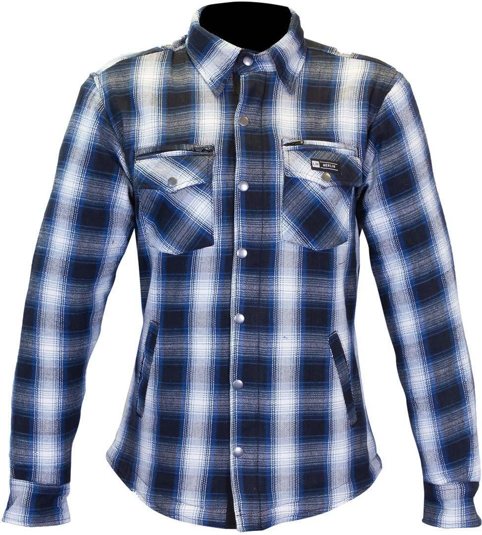 Merlin Madison Chemise de moto pour dames Bleu Beige taille : S