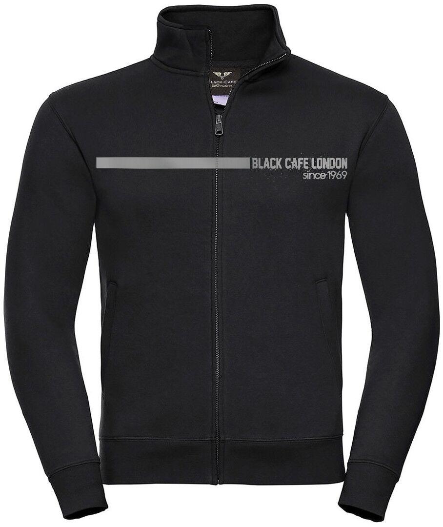 Black-Cafe London Elegance Sweat Jacket Noir Gris taille : 3XL