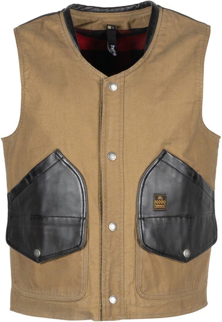Helstons Gilet en coton Noir Brun taille : S