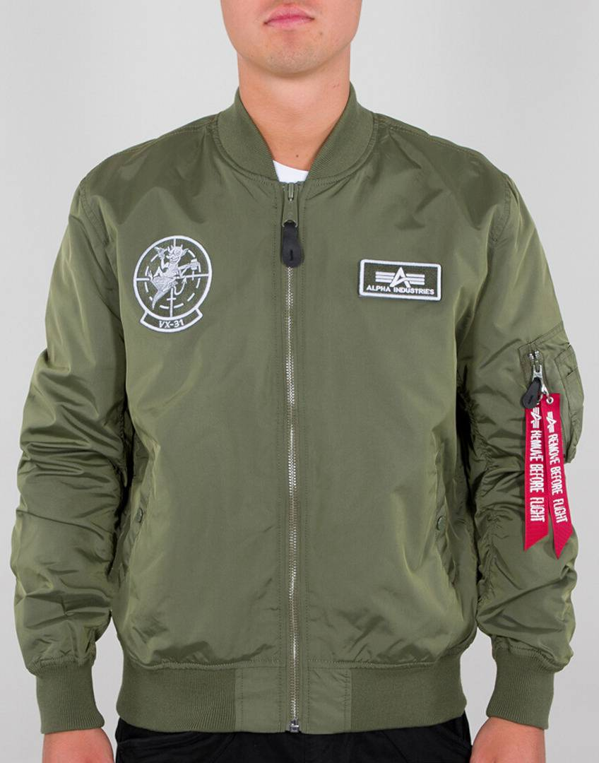 Alpha Industries MA-1 TT Glow In The Dark Veste Vert taille : 2XL