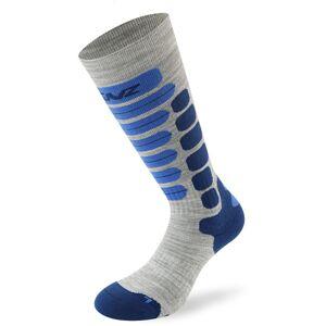 Lenz Skiing 2.0 Kids Socks Chaussettes pour enfants Gris Bleu taille : 35 36 37 38 - Publicité