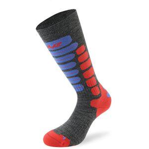 Lenz Skiing 2.0 Kids Socks Chaussettes pour enfants Gris Rouge Bleu taille : 31 32 33 34 - Publicité