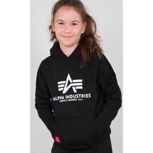 Alpha Industries Basic Sweat à capuche jeunesse Noir taille : 158 164 - Publicité
