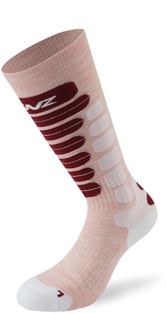 Lenz Skiing 2.0 Kids Socks Chaussettes pour enfants Blanc Rose taille : 31 32 33 34