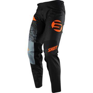 Shot Devo Roll Pantalon de motocross Noir Orange taille : 40 - Publicité