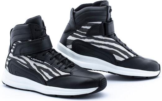 Stylmartin Audax Jungle Chaussures de moto pour dames Noir Blanc taille : 37