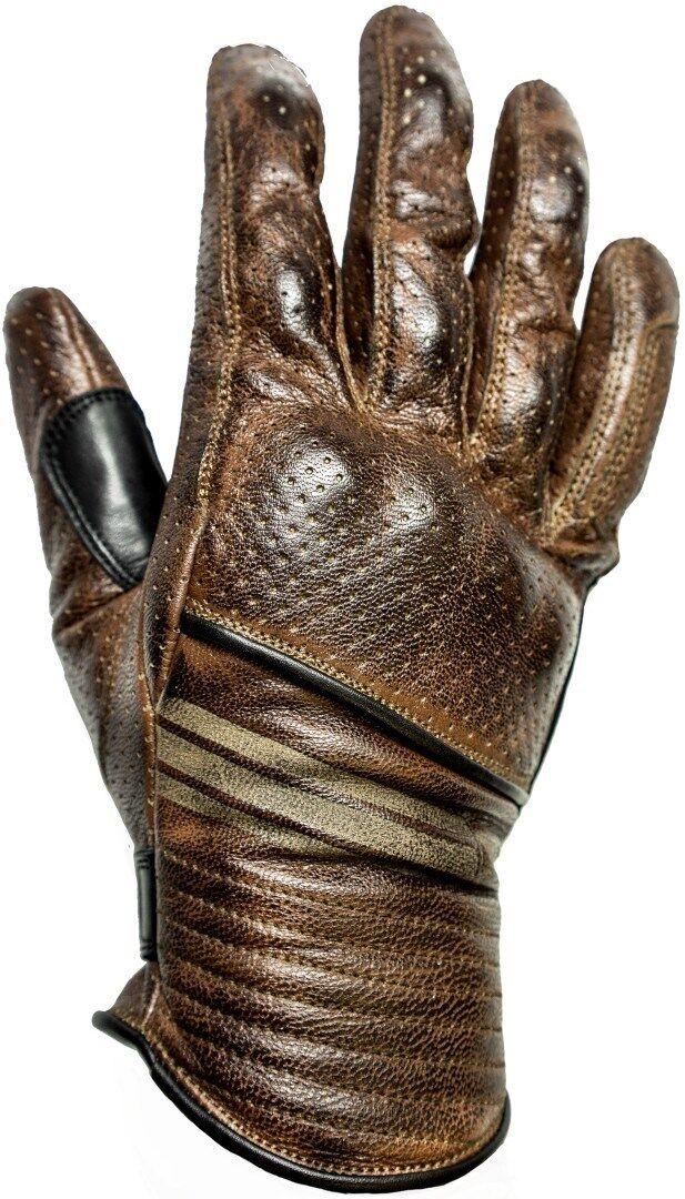 Helstons Corporate gants de moto d'été perforés Brun taille : M L