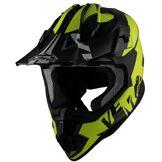 Vemar Taku Invasion Casque de motocross Noir Jaune XL