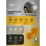 AGV Rear Share VI Easy Système de communication Noir unique taille