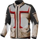 Berik Tour-X Veste textile de moto imperméable à l'eau Rouge Beige 48