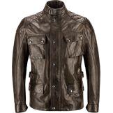 Belstaff Turner Veste de moto en cuir Noir Brun 3XL