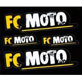 FC-Moto Ensemble d'autocollants Noir Jaune unique taille