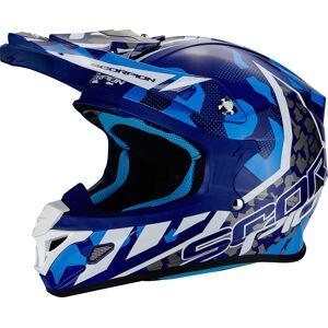 Scorpion VX-21 Air Furio Casque de Cross Blanc Turquoise Bleu taille : S - Publicité