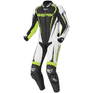 Berik Race-X Costume en cuir de moto d'une pièce Noir Blanc Jaune taille : 50 - Publicité