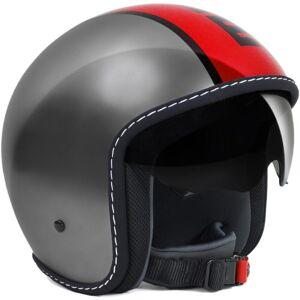 MOMODESIGN Blade Jet casque Alu / rouge Rouge Argent taille : S - Publicité