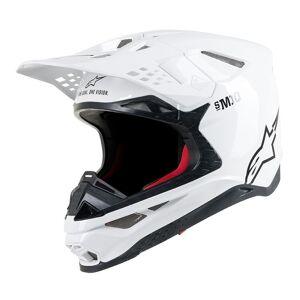 Alpinestars Supertech S-M10 Solid Casque Motocross Blanc taille : L - Publicité