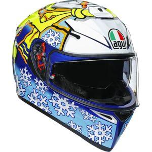 AGV K-3 SV Rossi Winter Test 2016 casque Blanc Bleu taille : S M - Publicité