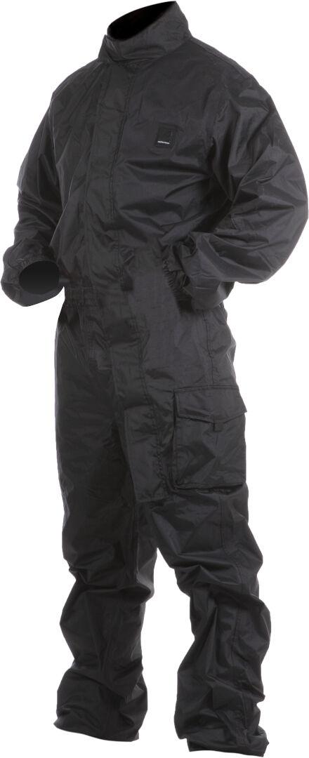 vquattro targa costume de pluie de moto d'une pièce noir 4xl