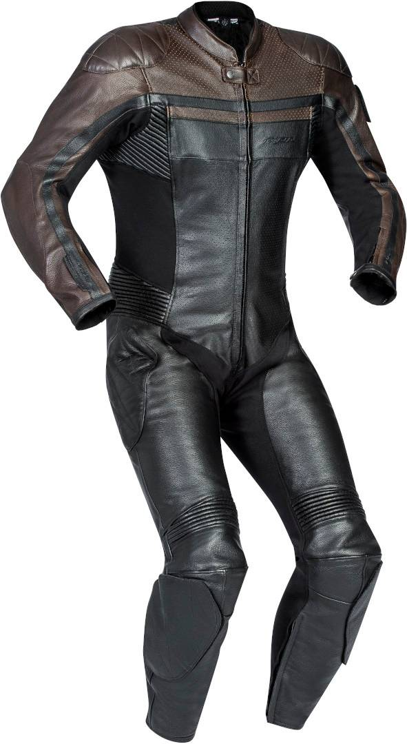 ixon legendary costume en cuir de moto 1-piece noir brun xl