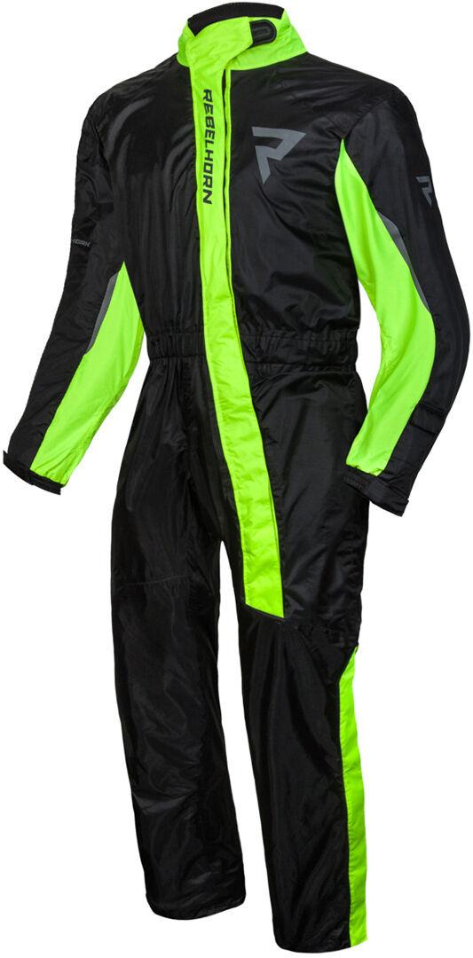 rebelhorn travel costume de pluie de moto noir jaune 4xl