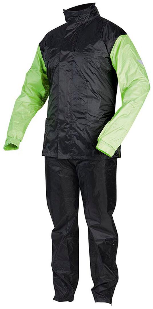 rebelhorn rain costume de pluie de moto noir jaune 4xl
