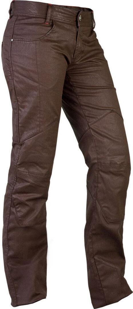 Esquad Chiloe Waxed Ladies Jeans Jeans cirés de dames Brun taille : 26