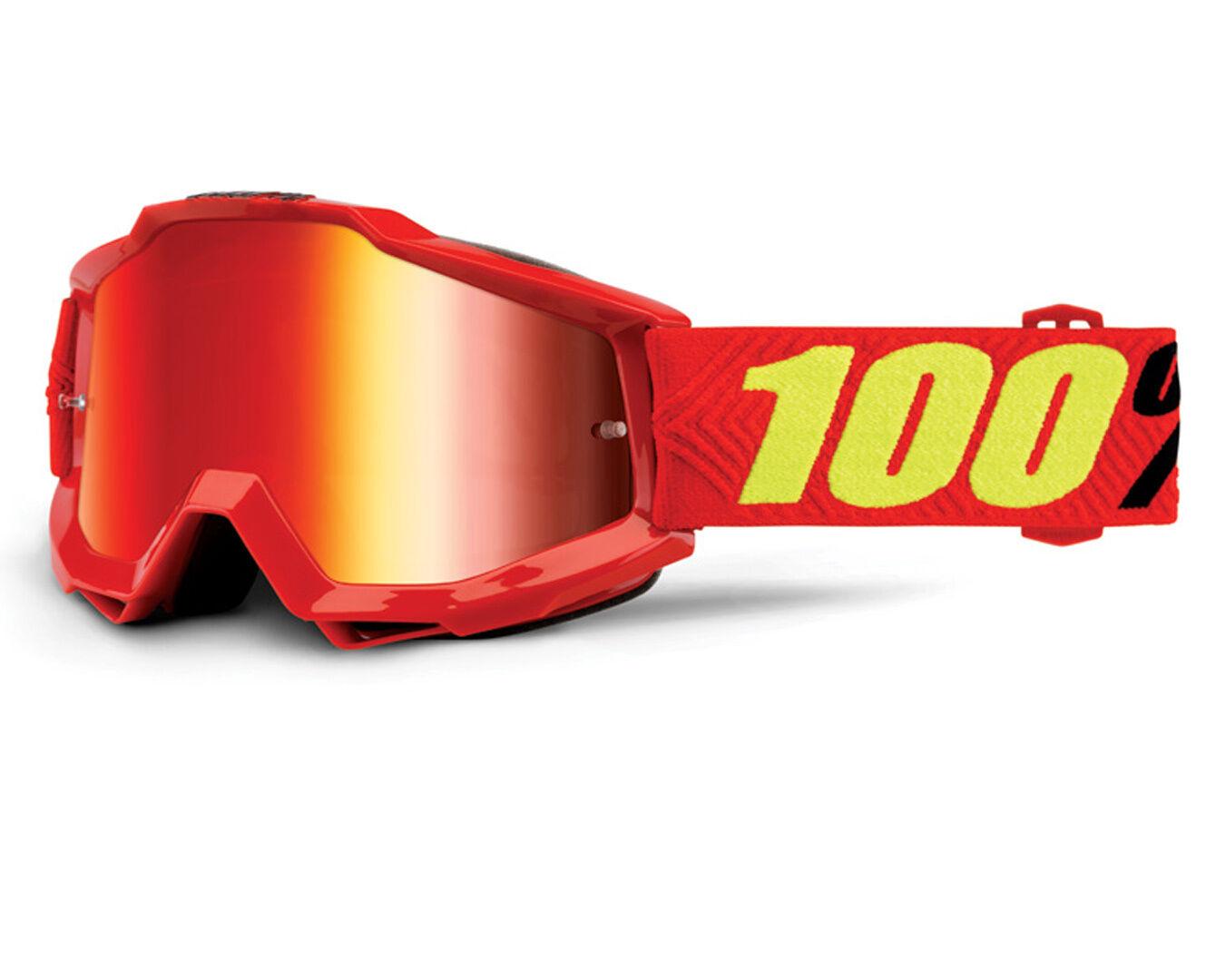 100% Accuri Extra Masques de motocross Rouge Jaune taille : unique taille